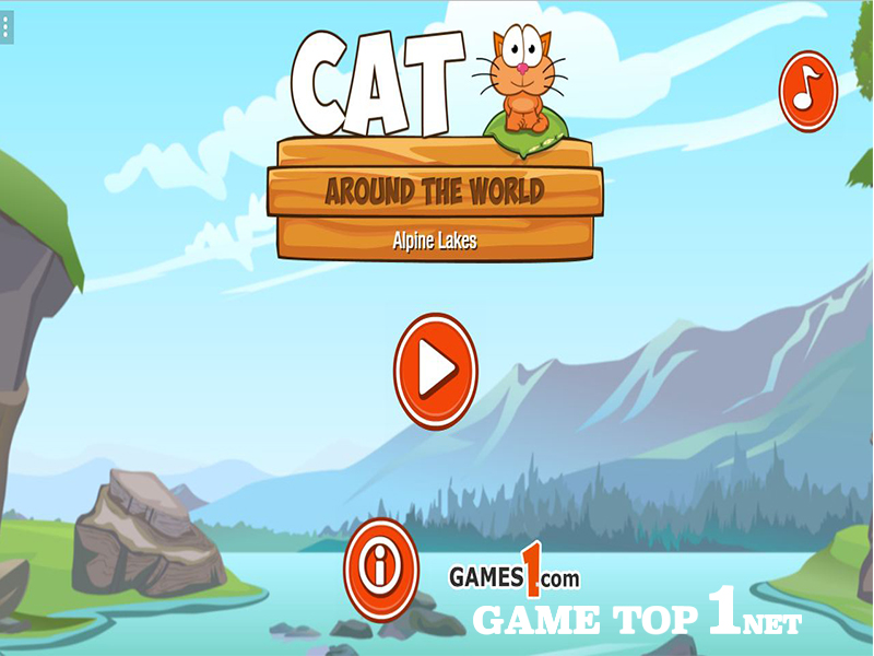 Game Chú Mèo Ham Ăn - Cat Around The World