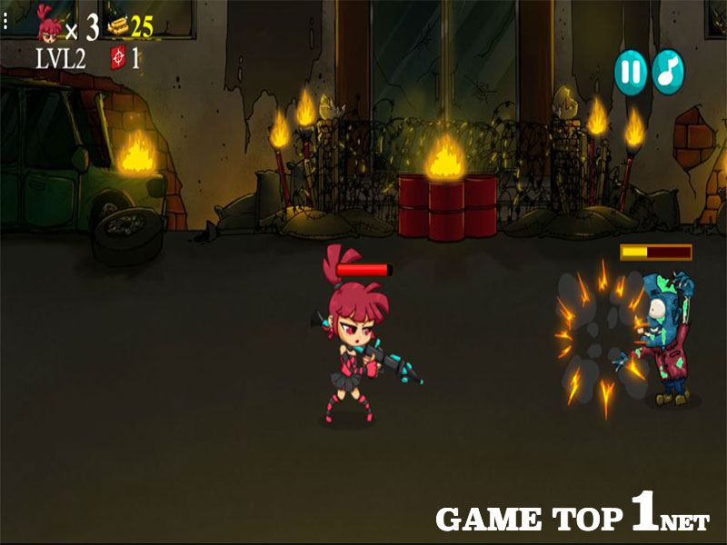 Game Đấm Zombie Ngoài Phố - Zombies Eat My Stocking